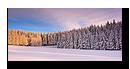 Coucher de soleil sur la Forêt Noire en Allemagne. Panoramique