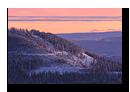 Crépuscule hivernal sur la Fôret Noire en Allemagne