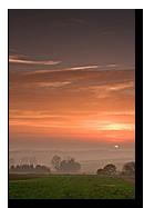 Couché de soleil sur le pays de Hanau