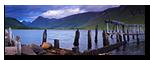 Old pier, Loch Etive, Gualachulain, Lochaber, Scotland