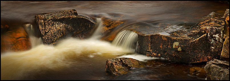 Small waterfall, River Coupall, Glencoe, Lochaber, Scotland