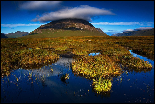 Bog, Buachaille Etive Mor, Rannoch Moor, Glencoe, Scotland
