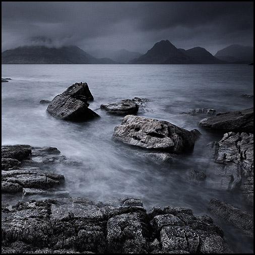 Rocher, Loch Scavaig, Cuillin Hills, Elgol, Isle of Skye, Scotland