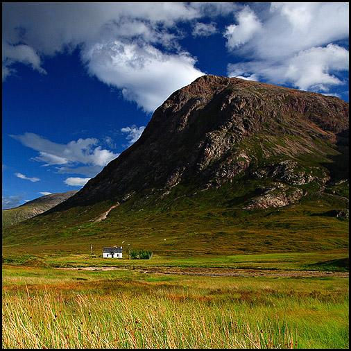 Cottage, Buachaille Etive Mor, Glen Etive, Rannoch Moor, Scotland