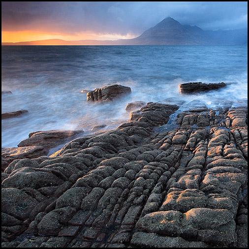 Sunset, Loch Scavaig, Cuillin Hills, Elgol, Isle of Skye, Scotland