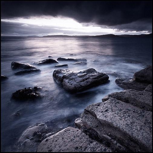 Blue hour, Loch Scavaig, Cuillin Hills, Elgol, Isle of Skye, Scotland