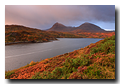 Loch Glendhu. Quinag, Sail Ghorm et Sail Gharbh, Kylesku, Sutherland, Highlands, Scotland