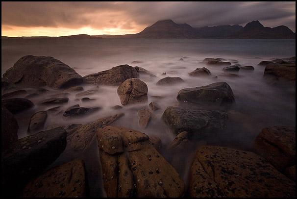 Crepuscule, Loch Scavaig, Cuillin Hills, Elgol, Isle of Skye, Scotland