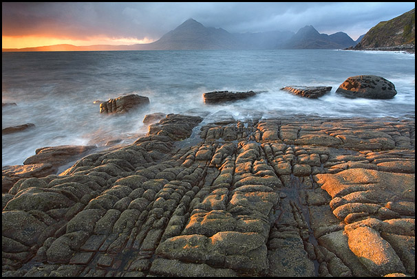 Evening light, Loch Scavaig, Cuillin Hills, Elgol, Isle of Skye, Scotland