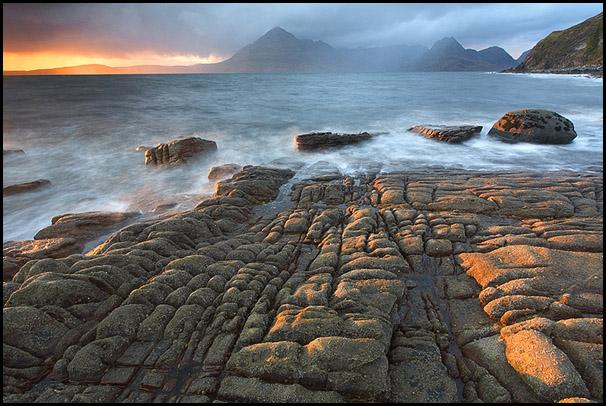 Evening light, Loch Scavaig, Cuillin Hills, Elgol, Isle of Skye, Scotland