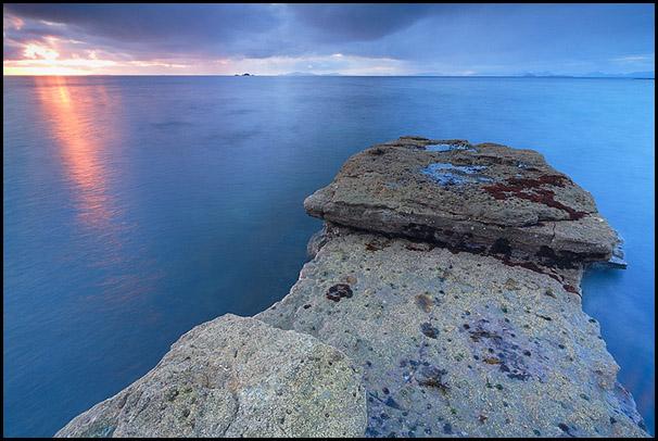 Formation rocheuse, Cairidh Ghlumaig, Dunltum, Isle of Skye, Scotland