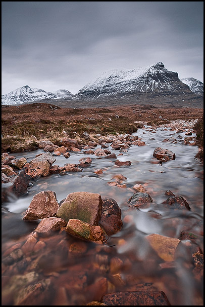 Quinag and Allt na Bradhan, Assynt, Highlands, Scotland