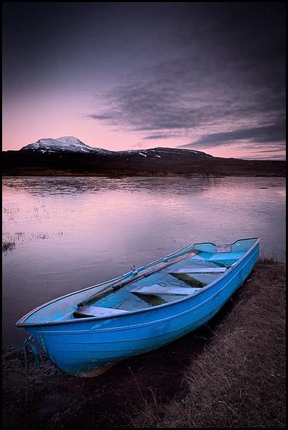 Petite barque, Loch Awe, Assynt, Highlands, Scotland