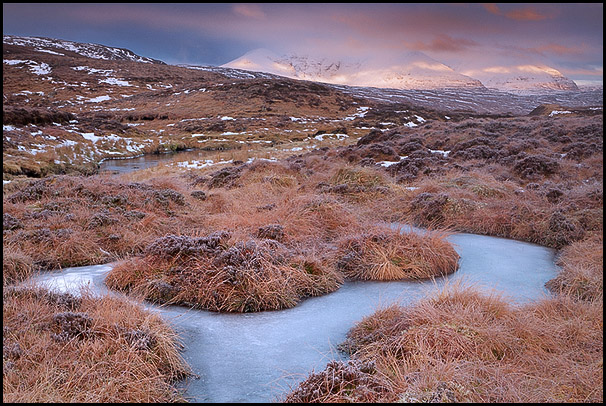 Neige sur montagne An Teallach, Dundonnell, Wester Ross, Highlands, Scotland