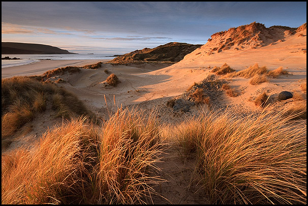 Couche de soleil sur Faraid Head, Durness, Sutherland, Highlands, Scotland