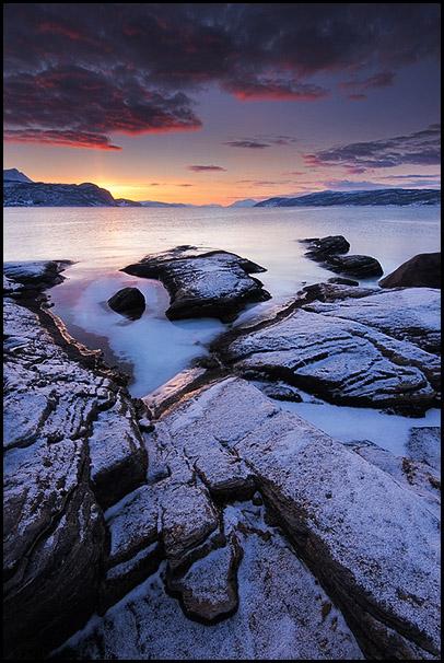 Reisafjorden, Sørreisa, Troms, Norvège