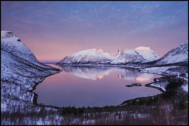Bergsfjorden, Senja, Troms, Norvège